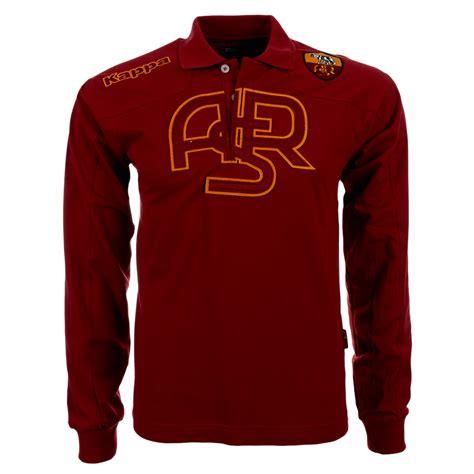 Polo Shirt As Roma 3 as rom kappa langarm poloshirt polo shirt serie a roma xs