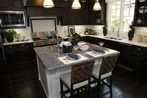 Dark Wood Cabinets Kitchen | 34 kitchens with dark wood floors pictures