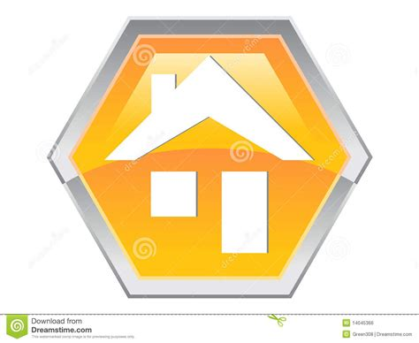 Hexagon House Plans by Hexagon House Logo Design Icon Royalty Free Stock Image
