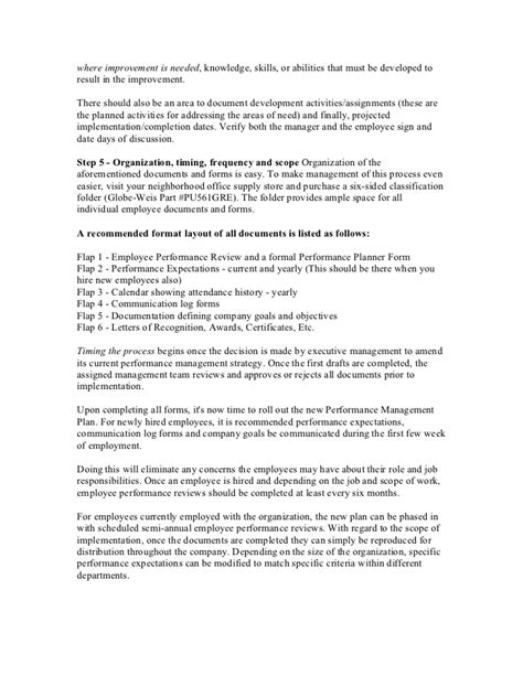 performance management letter template employee performance evaluation sle