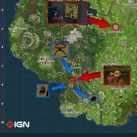 fortnite week 6 treasure map season 3 challenges week 1 fortnite wiki guide ign