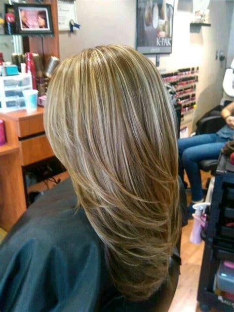 t section highlights for dark hair cortes de cabello en capas largas 17 curso de