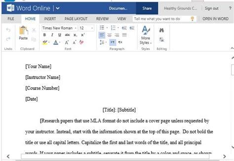Mla Format Template Tryprodermagenix Org Microsoft Word Mla Format Template