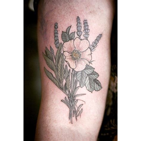 botanical tattoo designs lavender nootka floral botanical by