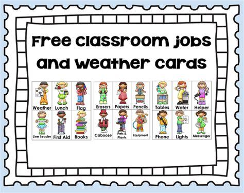 printables for kindergarten classroom 5 best images of preschool classroom job chart printables