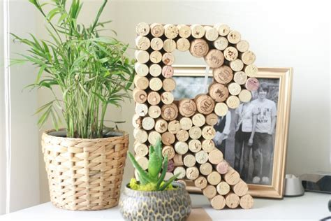 wine cork home decor diy wine cork initial wall decor play at home wife
