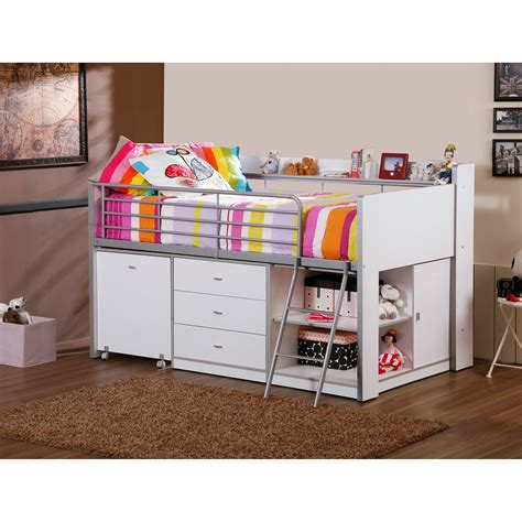 Dhi Savannah Storage Loft Bed With Desk Balzano