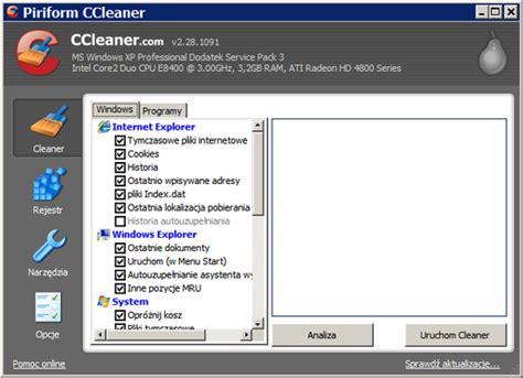 ccleaner za darmo ccleaner 3 04 1389 pobierz za darmo free download