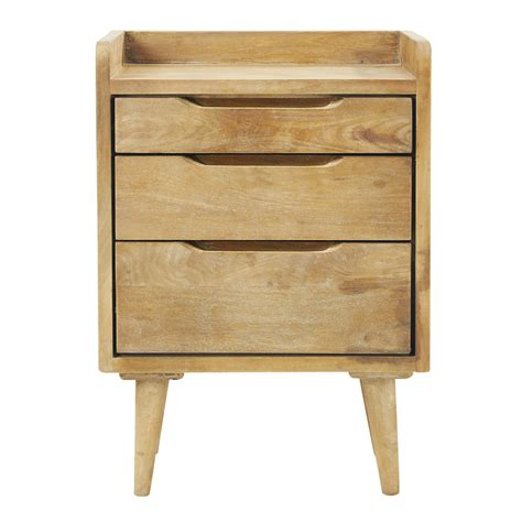 vintage bedside table mango wood vintage bedside table with drawers w 45cm