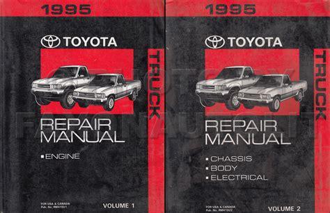 toyota repair shops 1995 toyota truck repair shop manual set original