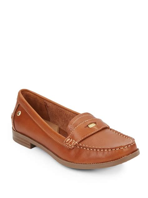 hush puppy loafers hush puppies iris sloan loafers in brown lyst