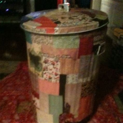 Decoupage Trash Can -