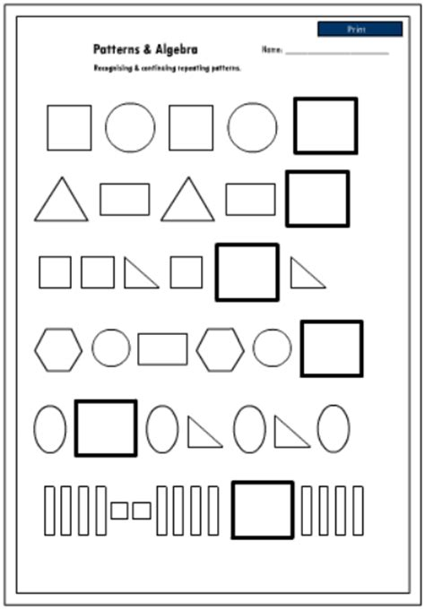 continuing patterns ks1 shape recognizing and continuing shape patterns mathematics