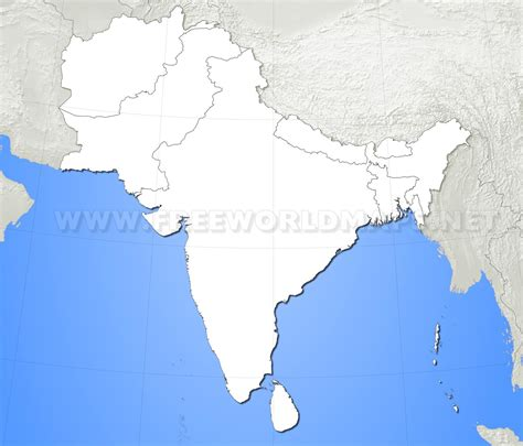 map of south asia blank map of south asia roundtripticket me
