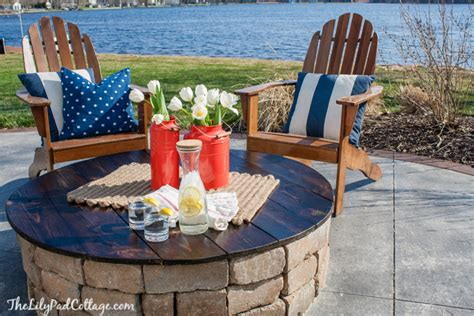diy pit table cover 9 ideas that ll convince you to add a pit to your backyard huffpost