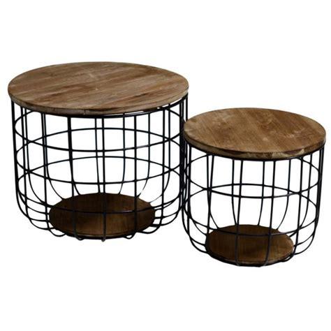 Tavolino Con Pouf by Tavolino E Pouf In Metallo E Legno