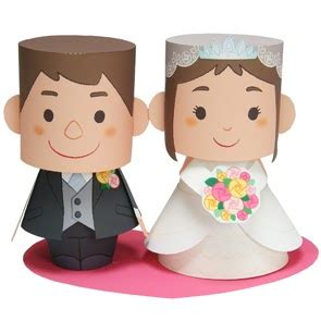 Papercraft Dolls - wedding message doll papercraft papercraft paradise
