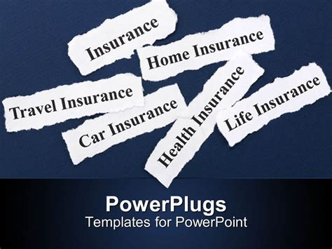 ppt templates for insurance powerpoint template insurance related words written on