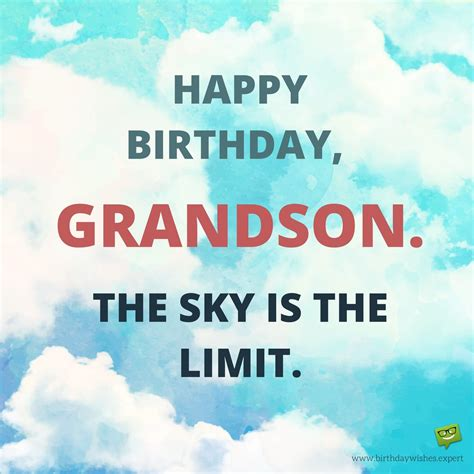 Happy Birthday Wishes To My Grandson From Your Grandma Grandpa Birthday Wishes For My Grandson