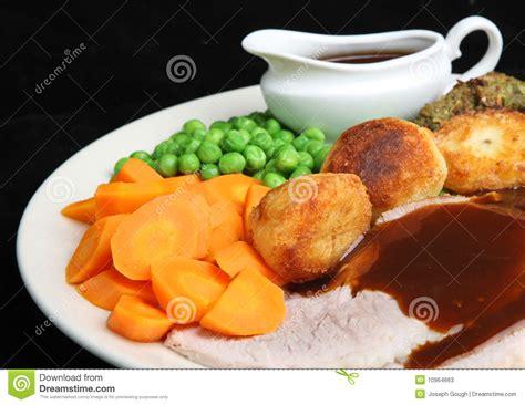 gravy boat littlehton lunch menu roast pork dinner with gravy stock image image of plate