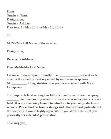printable sle introduction letter for business proposal