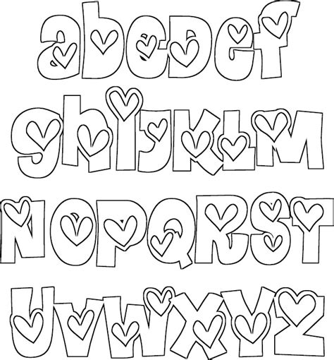 coloring book font alphabet coloring pages