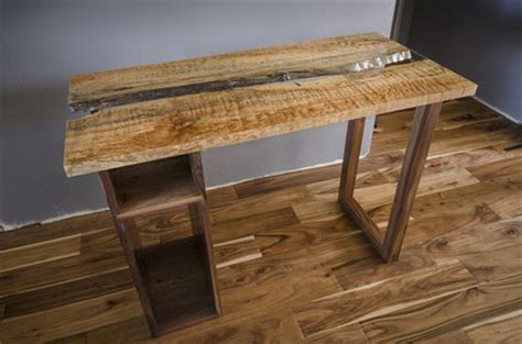 live edge computer desk live edge computer desk highly figured by russell eck