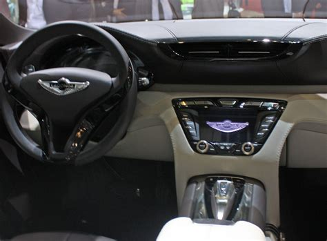 aston martin lagonda interior 2009 geneva motor show roll out new models introduced