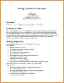 Resume Cna Exles by Cna Resume Cna Resumed