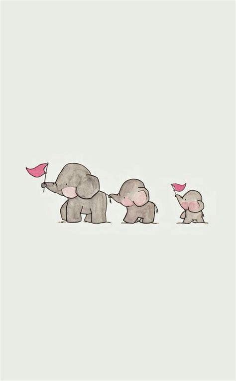 wallpaper elephant cute background cute elephant gray jambo kawaii three