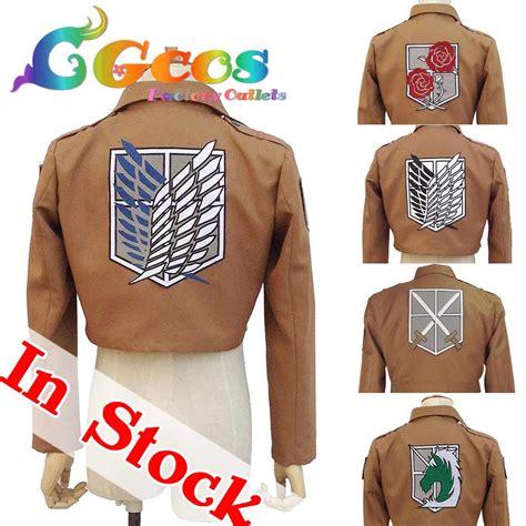 Jaket Shingeki No Kyojin New Stylle Jacket cgcos free shipping costume attack on titan shingeki no kyojin jacket coat 7