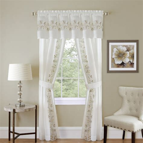5 piece curtain sets achim fairfield 5 piece window curtain set 55x63 white