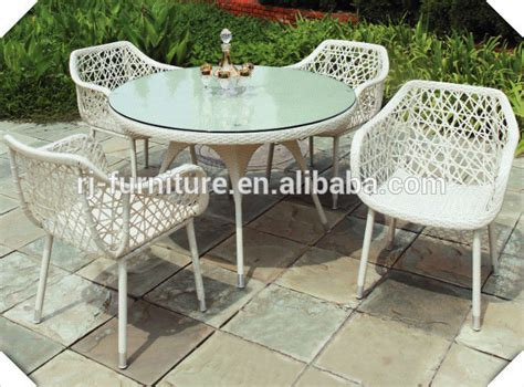 Garden Chair Material by Waterproof Pe Wicker Material Tempered Glass Outdoor Furniture Buy Garden Chair Wicker Chair