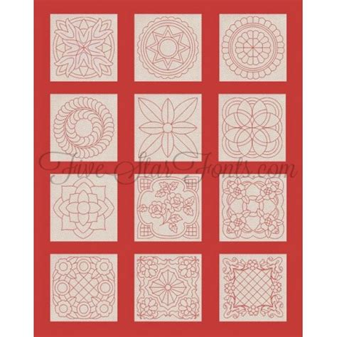 Classic Quilt Blocks by Classic Motif Quilt Blocks 12 Different Designs