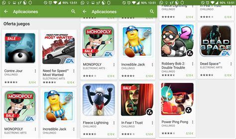 Play Store Juegos Play Rebaja Algunos De Sus Juegos A 10 C 233 Ntimos