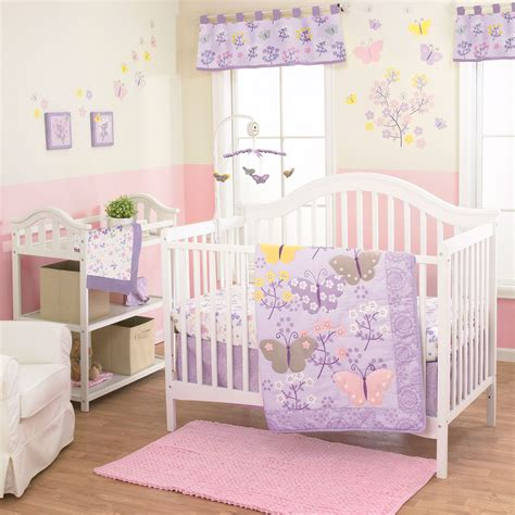 lulu butterfly 3 baby crib bedding set by ebay