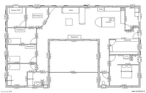 plan de maison 3 chambres plain pied plan maison plain pied 3 chambres gratuit
