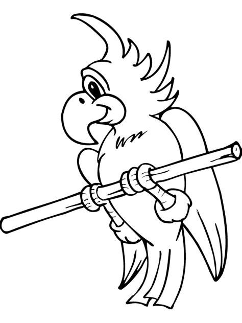 Parrot Coloring Pages Coloringpages1001 Com Parrot Coloring Page