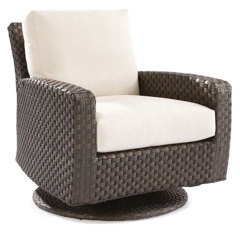Lane Venture Leeward Swivel Glider Lounge Chair Swivel Wicker Chair