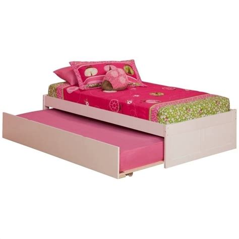 kids platform bed atlantic furniture concord platform bed with trundle in