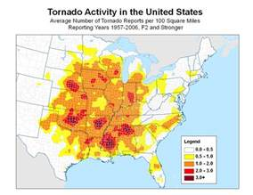 tornado frequency map ibhs disastersafety