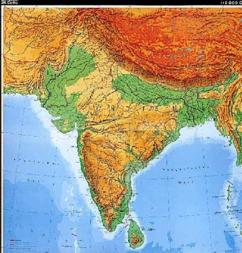 south asia physical map map of south asia