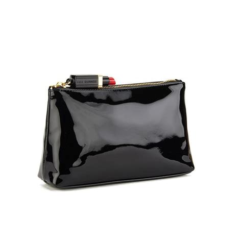 Pouch Kulit Asli Lulu Pouch lulu guinness s t seam medium zip pouch cosmetic bag black