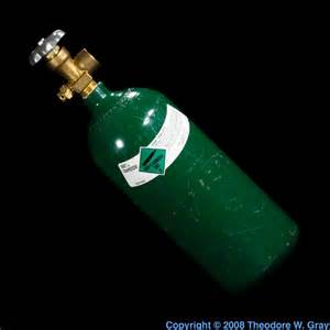 argon color high pressure cylinder a sle of the element argon in