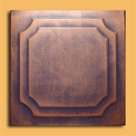 Copper Ceiling Tiles 20 Quot X20 Quot Roven Antique Copper Patina Ceiling Tiles Antique