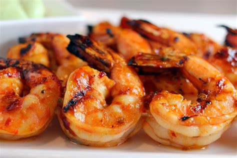 grilled shrimp with honey ginger barbecue sauce recipe dishmaps