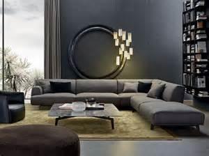 wohnzimmer ecksofa sofa in grau 50 wohnzimmer mit designer