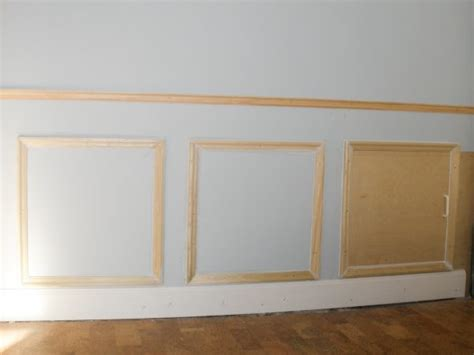 Wainscoting Cabinet Doors Remodelaholic Hiding Plumbing Access With Wainscoting