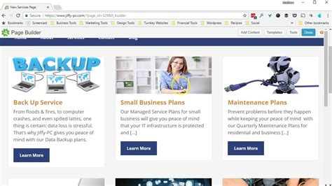 tutorial web builder 10 tech site builder tutorial page builder services template