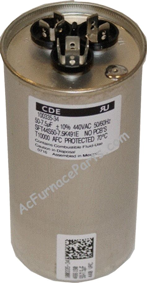 lennox furnace capacitor price save on lennox parts acfurnaceparts